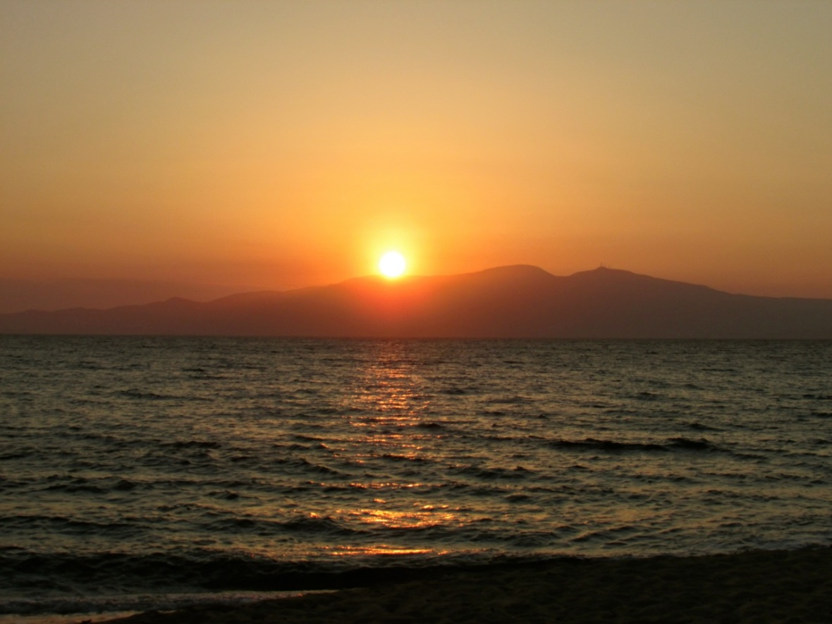 The View Today: Naxos Sunset