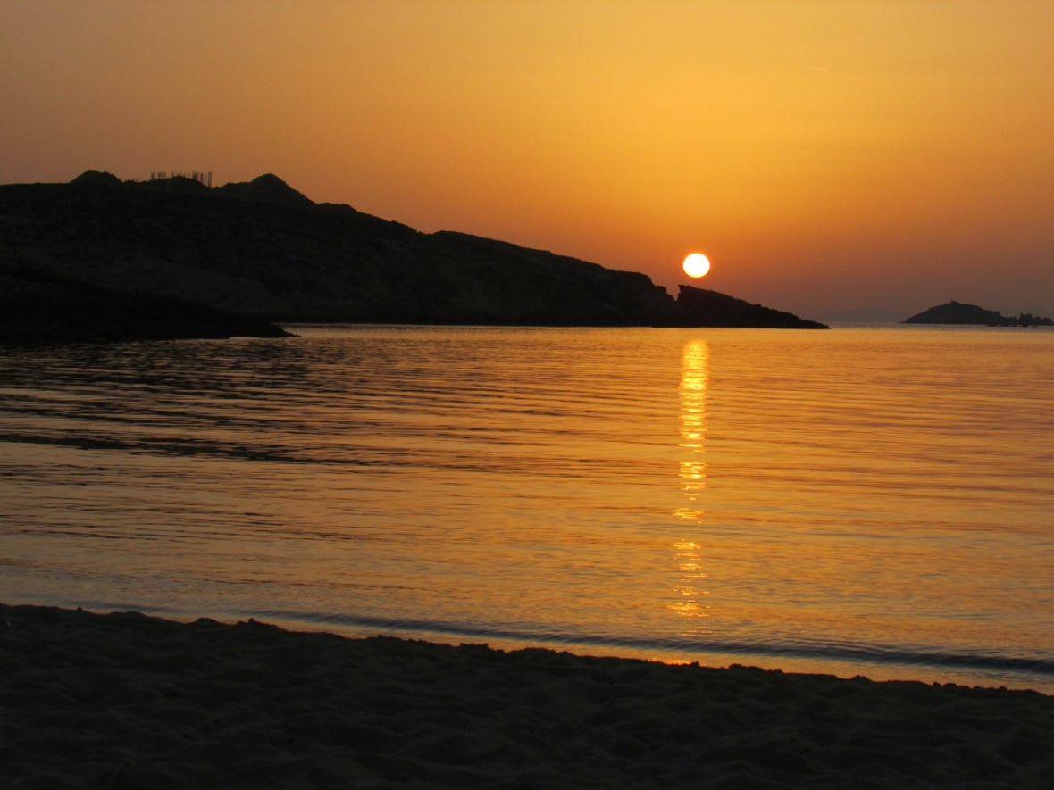 The View Today: One Last Paros Sunset