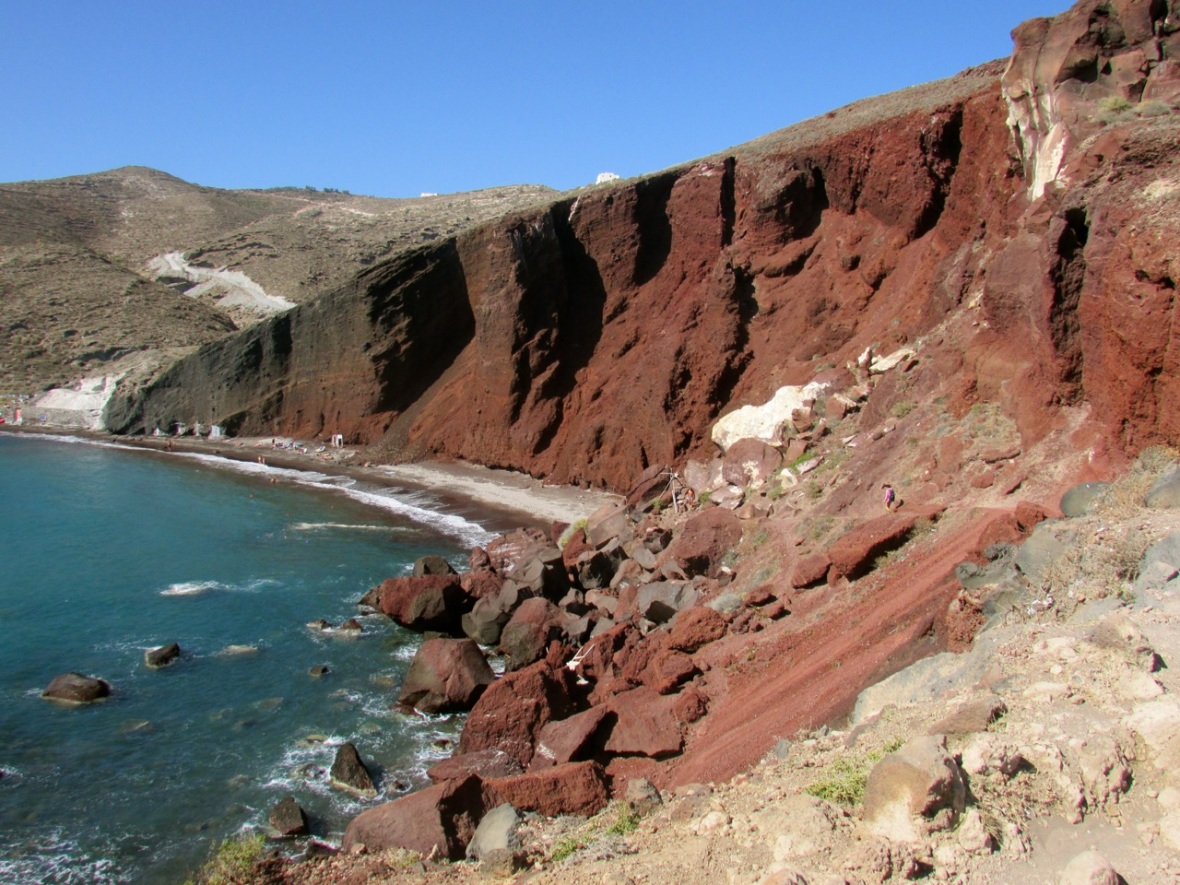 The View Today: Red Beach, Santorini